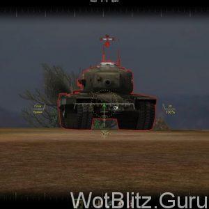 Вид в прицел вражеского танка