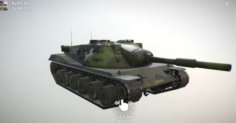 Обзор танка KpfPz 70