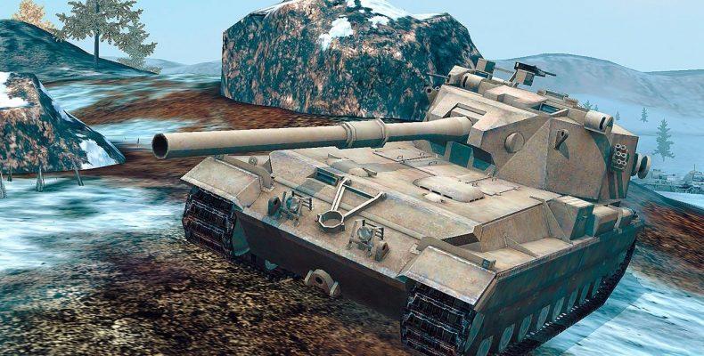 Битва FV215b с модифицированным прицелом
